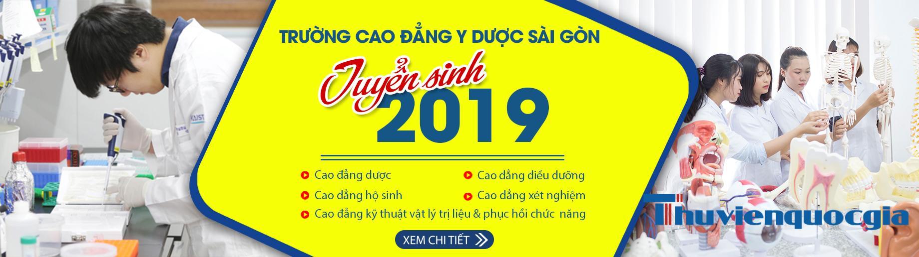 Trường cao đẳng Y Dược Sài Gòn tuyển sinh 2019